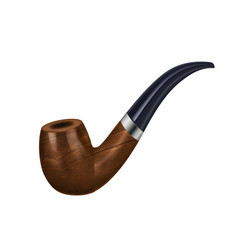 Smoking pipe realistic composition vector