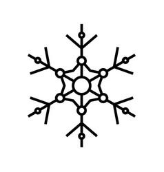 snowfleak pattern line icon concept sign outline vector image