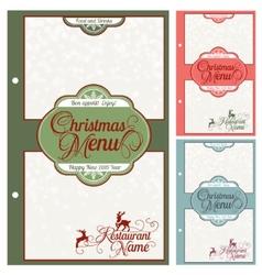 Special Christmas festive menu design vector