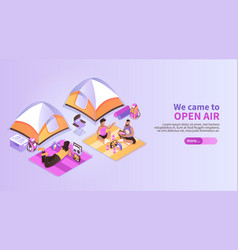 summer music festival isometric background vector image