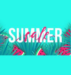 summer sale trendy banner modern colorful vector image