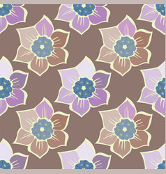 summer seamless pattern with spring flowers vector image