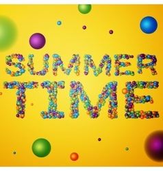 Summer Time words vector image
