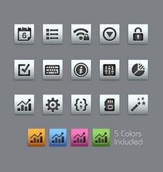 System settings interface - satinbox series vector