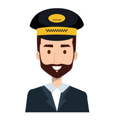 Taxi driver with hat vector
