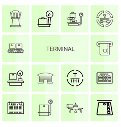 terminal icons vector image