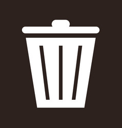trash bin icon vector image