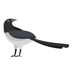 Turning magpie icon flat style vector