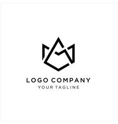 Unique creative simple fashion brands am ma logo vector