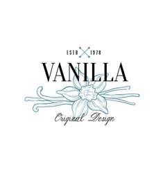 Vanilla logo original design estd 1978 culinary vector
