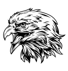 Vintage eagle head side view concept vector