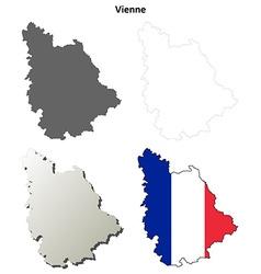 Vosges lorraine outline map set vector