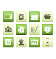 web applications business and office icons vector image