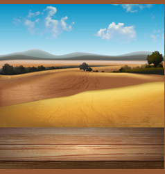 abstract landscape background vector image vector image