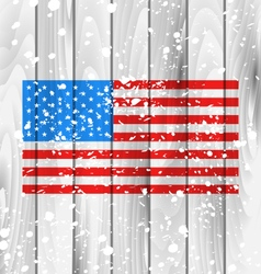 American Grunge Background with Flag vector image vector image