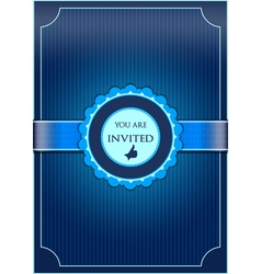 Blue abstract invitation vector image vector image
