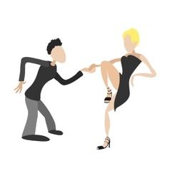 Couple dancing tango cartoon vector image