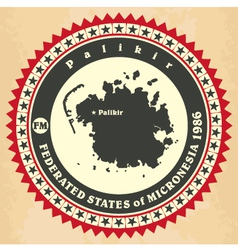 Vintage label-sticker cards of Federated States of vector image vector image
