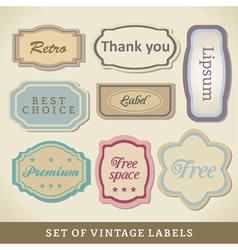 Blank Vintage Design Cards vector image vector image