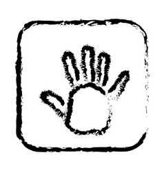 contour symbol open hand icon vector image vector image