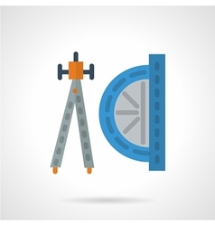 Flat color geometry tools icon vector image vector image