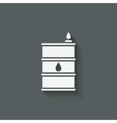 gasoline barrel symbol vector image vector image
