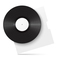 Realistic vinyl record and sleeve vector image vector image