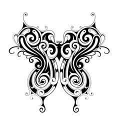 tribal style butterfly tattoo vector image