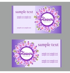 Two business cards with lilac disign vector image