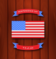 American Background with Flag vector image