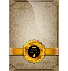 Brown Invitation Design vector image vector image