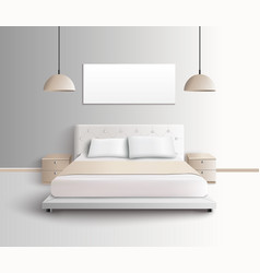 modern bedroom interior composition vector image