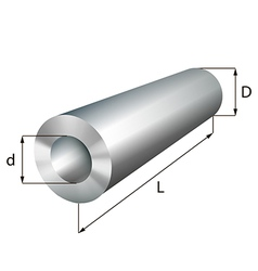 Steel cylinder tube industrial metal object vector