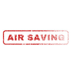 air saving rubber stamp vector image vector image