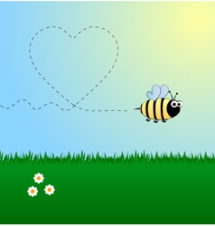 Bee in love vector image