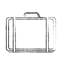 black blurred silhouette cartoon travel briefcase vector image