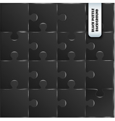 black plastic pieces puzzle game vector image