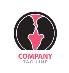Interacial Relationship Logo vector image vector image