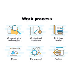 set of work process vector image