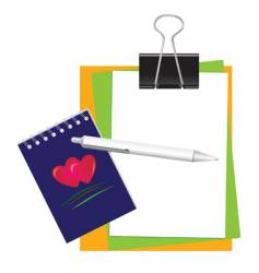 stationery for office and school vector image vector image