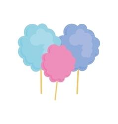 Sugar food design cotton candy icon sweet vector image