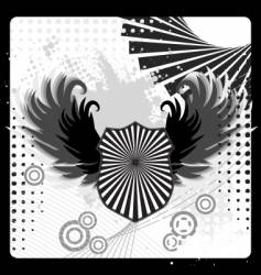 urban grunge shield design vector image