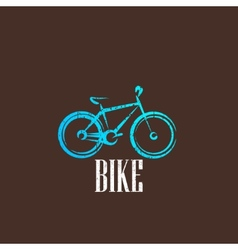 vintage with a bike icon vector image vector image