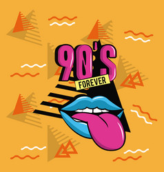 90s forever design vector image