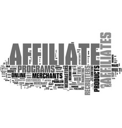 a unique opportunity for affiliate recruiters vector image