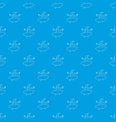 arabic man pattern seamless blue vector image