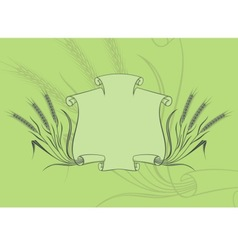 banner with wheat green vector image