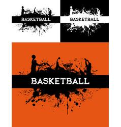 Basketball tournament streetball background vector