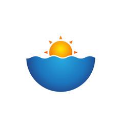 Beach logo modern concept design vector