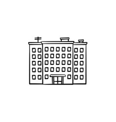Block of flats hand drawn outline doodle icon vector